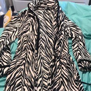 Zebra robe/ Size Small/ Worn once